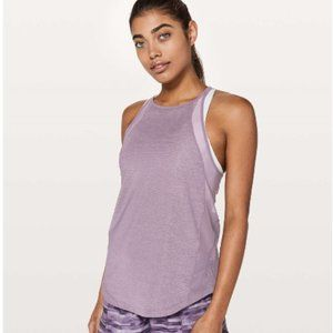 Lululemon Run Off Route Heathered Mulberry Tank